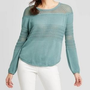 Knox Rose Sweaters - Knox Rose Scoop neck pullover sweater